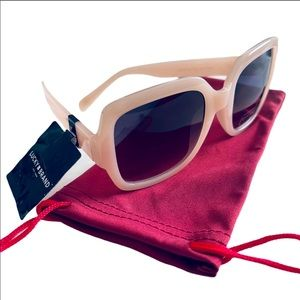 Lucky Brand Pink Oversized Square Sunglasses